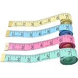 Cinta Métrica, 4 Piezas Cintas de Medición de Tela Plana Suave a Medida de Costura con Cajas, Rango de Medida 150cm Para Cost