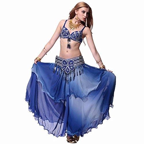 Lyrischer End Kostüm High Tanz - Byjia Farbe Bauchtanz Kostüme Von High-End-Anzüge Blue 7