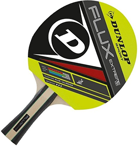 Dunlop 679205 Flux Extreme Rubber Table Tennis Racquet, 10-inch (Multicolor)