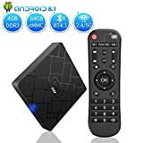 Android 8.1 TV Box - NBKMC Smart TV Box Smart TV Box Quad Core 4GB RAM+64GB ROM, BT 4.1, 4K*2K UHD H.265, HDMI, USB 3.0, WiFi Media Player, Android Set-Top Box