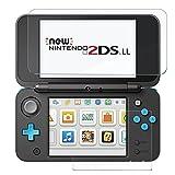 Protecteur D'écran New Nintendo 2DS XL, AVIDET Protecteur D'écran Prime Verre Trempé de 0.33mm écran Tactile pour New Nintendo 2DS Écran Supérieur et 3-Pack de Protecteur D'écran HD pour écran Inférieur
