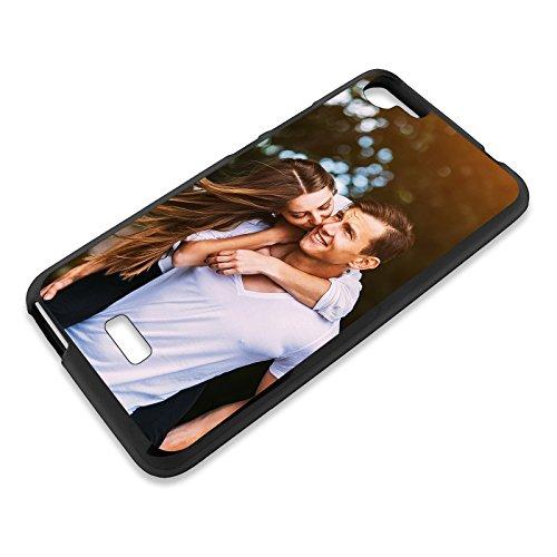 Personalisierte Premium Foto-Handyhülle für Wiko-Serie selbst gestalten mit Foto bedrucken, Hülle:TPU-Silikon / Schwarz, Handymodell:Wiko Rainbow Jam