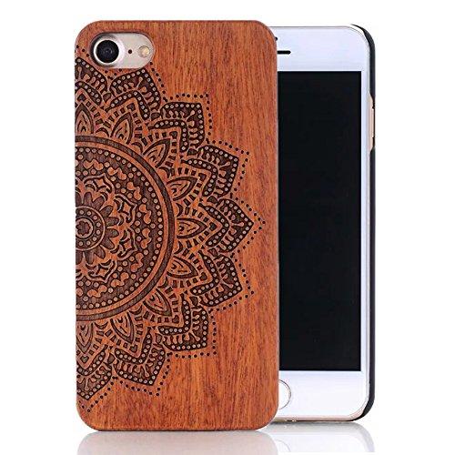 """Coque iPhone 6s, Sunroyal® Coque pour iPhone 6 Bois Véritable + PC Bumper Dur Hard Housse Etui Hybride en Bois Naturel Sculpté Wood Case Cover de Protection pour Apple iPhone 6, iPhone 6s (4.7"""")"""