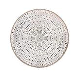Flanacom Deko Tablett Dekoschale mit Verzierungen als Tischdekoration orientalisch marokkanisch, Maße ca. 28 x 28 cm