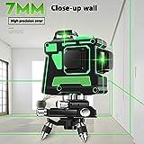 Linienlaser, 12 Linien 3D Grünlaser Nivelliergeräte Selbstnivellierendes Kreuzlinienlaser Grün mit Laserpunkte Paket B