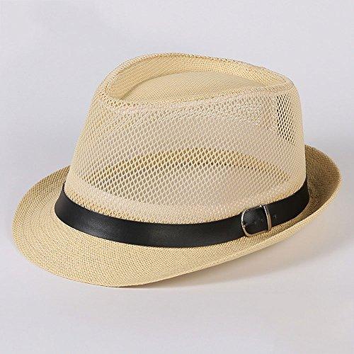 n-Männer des Hutgroßhandelsmesh-Sonnenjazz-Strohhut-Visierhutfrauen-Sommer-Kühlen Hutes (100 Jahre Alter Mann Kostüm)