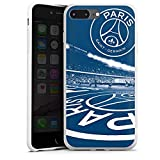 DeinDesign Coque en Silicone Compatible avec Apple iPhone 7 Plus Étui Silicone Coque Souple Paris Saint-Germain PSG Parc des Princes