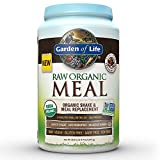 Garden of Life Organic Vegan Meal Replacement - Raw Plant Based Protein Powder, Chocolate, 35.9oz (2lb 4oz/1,017g) Powder