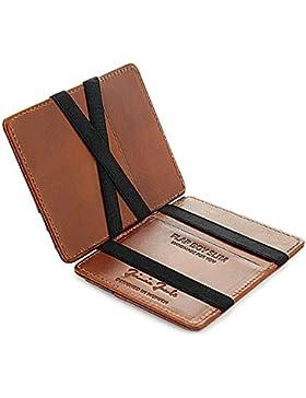 JAIMIE JACOBS ® Cartera Mágica Flap Boy Slim, el Original, Magic Wallet con Bloqueo RFID, Protege Tarjetas de...