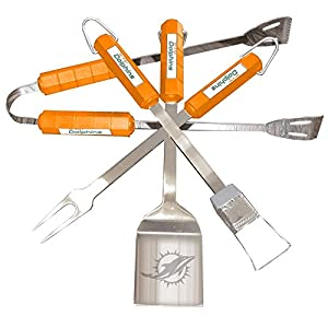 Siskiyou Sports 78133 4 Piece Bbq Set - Miami Dolphins