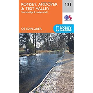 OS Explorer Map (131) Romsey, Andover and Test Valley