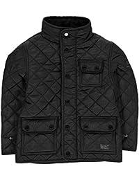 Firetrap Kids Boys Kingdom Jacket Junior Quilted Coat Top High Neck Zip Chest