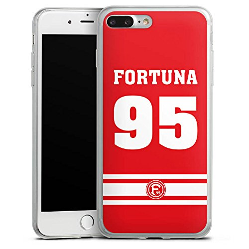 Apple iPhone 8 Plus Slim Case Silikon Hülle Schutzhülle Fortuna Düsseldorf Fanartikel Fortuna F95 Silikon Slim Case transparent