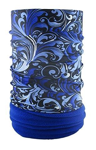 Headloop Polar Extra Long Blue Microfibre Fleece Tube Scarf Multifunctional Headwear Neck Headscarf