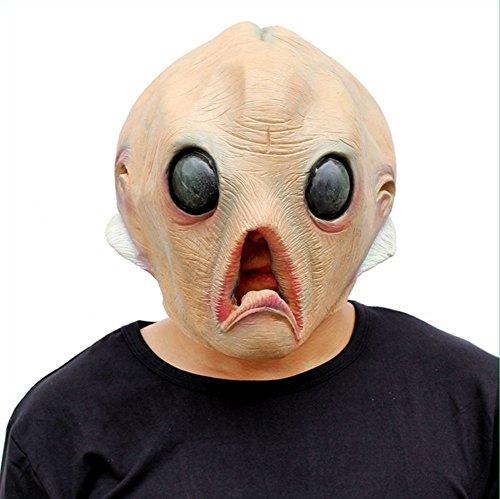 QTMY Deluxe Neuheit-Halloween-Kostüm-Party-Latex-menschliche Hauptmaske (Hole Kostüm In Halloween One)