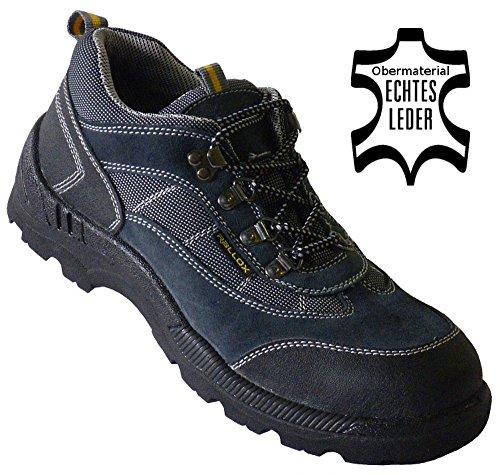Arbeitsschuhe Sicherheitsschuhe Schuhe Leder grau blau LC8010 S1 P(Durchtrittschutz) Gr. 38 39 40 41 42 43 44 45 46 47