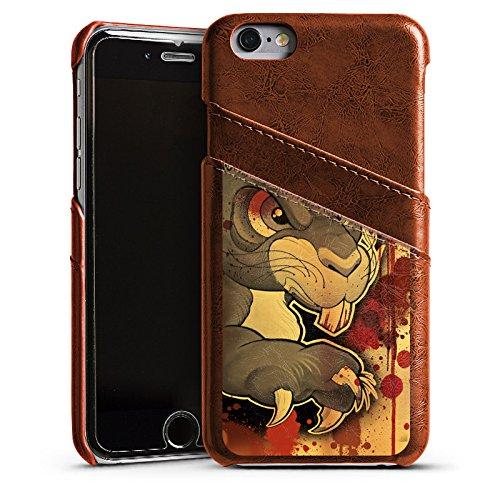 Apple iPhone 5s Housse étui coque protection Tatouage Méchant Lapin Étui en cuir marron