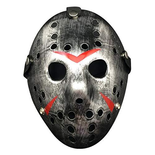 Kostüm Rave Für Jungs - Croazhi Jason Mask Für Vendetta-Themenpartys Halloween Kostüm Rave Protestieren Cosplay-Maskerade Für Alter Mann Kinder Jungs Frauen Männer