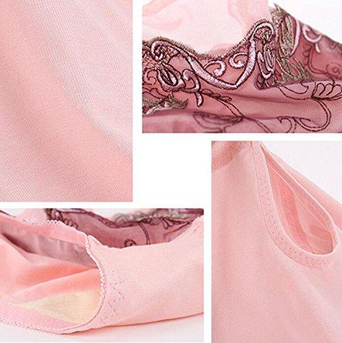 Frau Im 3er-Pack Sexy Spitze-Stickerei Einrückungen Unterwäsche In Der Taille Dreieck Baumwolle Schrittgurt A10