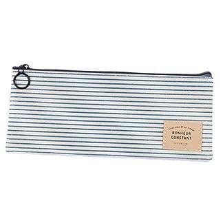 Katara 1800 Estuche de Lápices Escuela / Oficina Papelería – Bolso Escolar con Patrón de Rayas Azules y Blancas