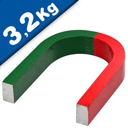 Imán de herradura AlNiCo rojo/verde