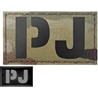 Multicam Infrared IR PJ CSAR para Pararescue Jumper 3.5x2 IFF Tactical Morale Touch Fastener Patch