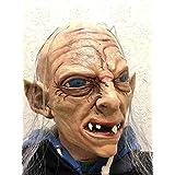 Gollum Máscara LUJO Completa Látex sméagol Hobbit Arandelas Disfraz Máscaras