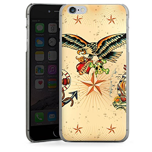 Apple iPhone X Silikon Hülle Case Schutzhülle Schiff Anker Tattoo Hard Case anthrazit-klar