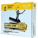 Gibbon Slacklines Classic Line, Gelb, 15 Meter (12,5m Band + 2,5m Ratschenband), für Anfänger, Beginner und Einsteiger, inklusive Ratschenschutz und Ratschenrücksicherung, 50 mm breit, perfekter Freizeitsport - 4