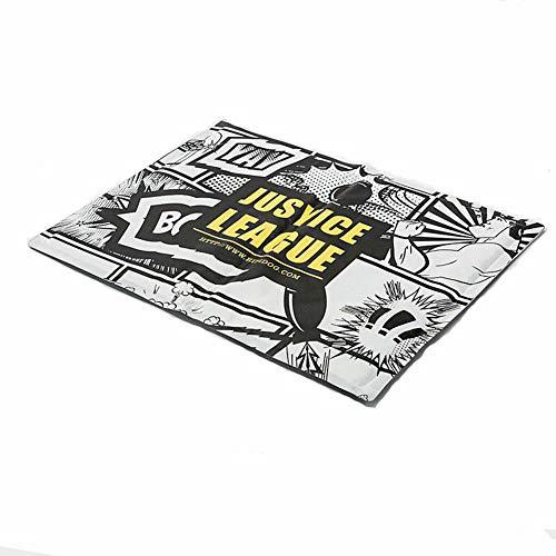 DODO DOG Mode Drucken Sommer Pet Pad abkühlen Hundekissen Katzenmatte Erfrischend Atmungsaktiv Weich,Hundebetten Dauerhaft/Liga der Gerechtigkeit: Ungerechtigkeit für alle/L