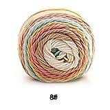 Starter arcobaleno filati di cotone, 5strati, lavorato a mano, in cotone tinto ombre filato per sciarpe, cappelli, cuscino