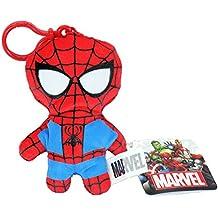 Llavero de peluche suave de superhéroes de Marvel, Los Vengadores, bolsa, clip, regalo para niños, juguete