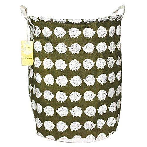 Cotone e lino secchio rotondo storage cesto portabiancheria 55l