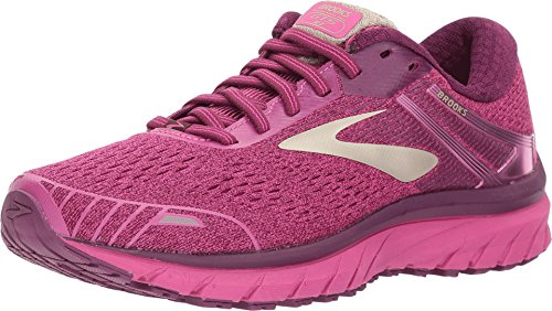 Brooks Women's Adrenaline GTS 18 Pink/Plum/Champagne 11.5 B US