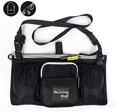 Walking Mum Urban Baby - Bolso organizador, color negro