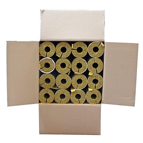 Austroflex Karton 16m Steinwolle Rohrschale alukaschiert 28 mm x 34 mm 100% EnEV Mineralwolle Rohrisolierung Astratherm Steinwoll-Rohrschalen