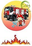Tortenaufleger Feuerwehr Geburtstag,Tortendeko Ca. 20Ø