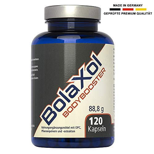 BOLAXOL Muskelaufbau Booster | OPC, Weintraubenkern Extrakt Kapseln | hochdosiert | vegan, rein pflanzlich | magensaftresistent (120 Pillen)