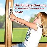 iSi Safe- Dispositivo de seguridad infantil para ventanas, sin agujeros