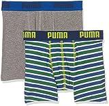 Puma Basic Boxer Printed Stripe 2P, Bóxer para Niños
