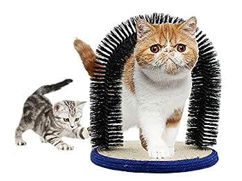 Morezi Peigne de toilettage Doux pour Animal Domestique Chat Arche automassante Brosse à Cheveux Grattoir pour Chat Base en sisal