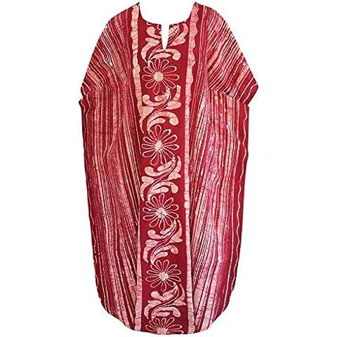 La Leela leggero 100% cotone signore di batik tutti in costume bagno formato 1 più coprire beachwear nightclassic classico vestito rosa vestito abito sera casual lounge lunghi sciolti Aloha caftano