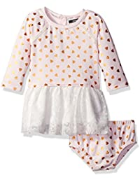 Kensie Baby Girls' French Terry and Tulle Dress
