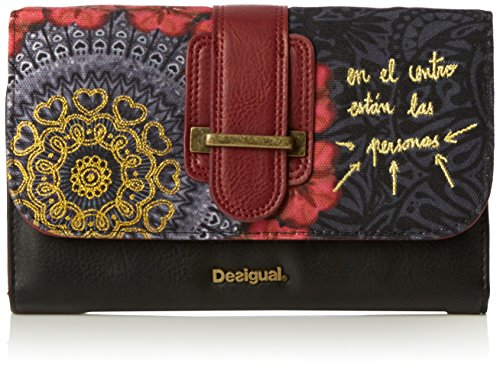 Desigual LENGÜETA RED GARDEN - Portafogli Donna, Rosso (3000), 19x12x3.50 cm (B x H x T)