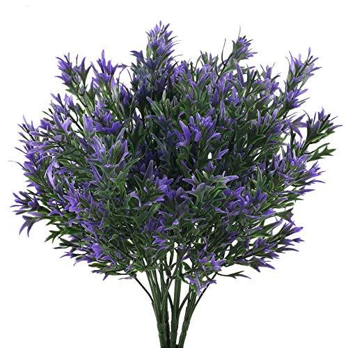 NAHUAA Violet Plantes 4 pcs Artificielle en Plastique Plantes Décoration Artificielle Arbustes Décoration Bureau Jardin Balcons Parc