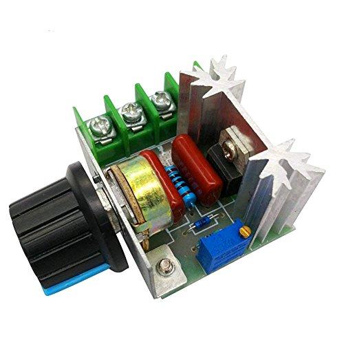 Naisicatar Régulateur De Tension Voltage Controleur Vitesse Dimmer Electrique Modulaire Groupe De Tension Stabilisateur Transformateur Interrupteur Selecteur De Temperature AC 50–220V 2000W X 1