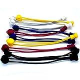 5 Paar Schnellschnürsystem Elastische Schnürsenkel mit Schnellverschluss-lock shoe...