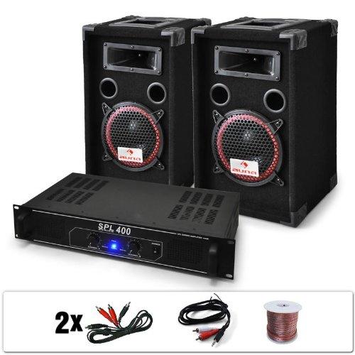DJ 12 Set de sonido profesional Altavoces + amplificador