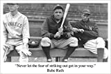 Babe Ruth Baseball Zitat Sport Pic Poster Rare Hot Neu Einzigartig 24x 36