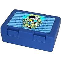 Eurofoto Brotdose mit Namen Tim und schönem Motiv mit Totenkopf für Jungen   Brotbox blau - Vesperdose - Vesperbox - Brotzeitdose mit Vornamen preisvergleich bei kinderzimmerdekopreise.eu